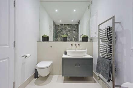 Edwardian meets contemporary; Teddington Family Home: modern Bathroom by PAD ARCHITECTS