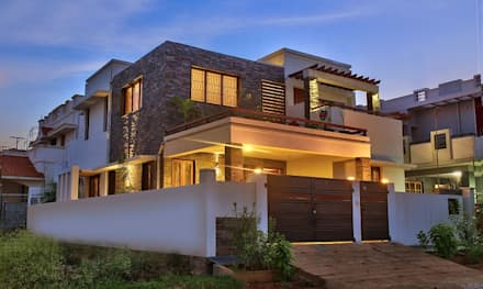Side Elevation:  Single family home by Myriadhues