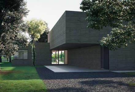 Garajes abiertos de estilo  de ASVS Arquitectos Associados