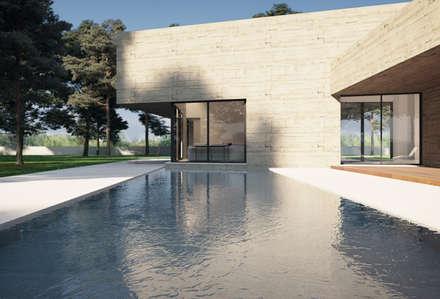 Piscinas de jardín de estilo  por ASVS Arquitectos Associados