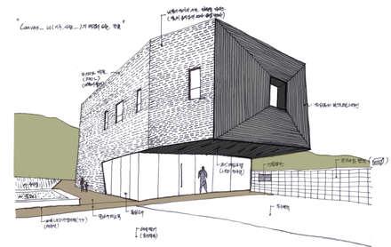 캔버스_너의배경이되는건축_몽트리파크: AAG architecten의  단층집