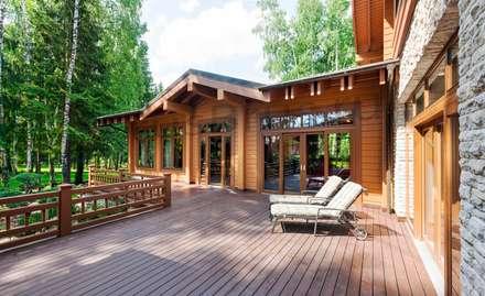 Дом из клееного бруса: Деревянные дома в . Автор – РусБрус