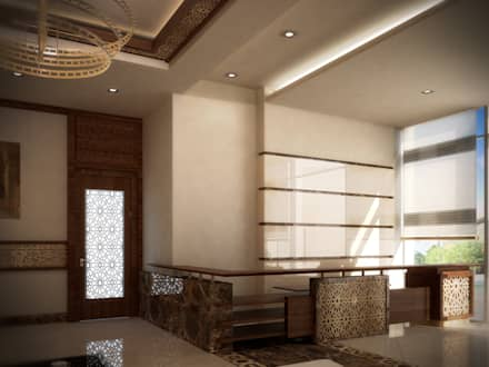Lobby :  Commercial Spaces by SPACES Architects Planners Engineers