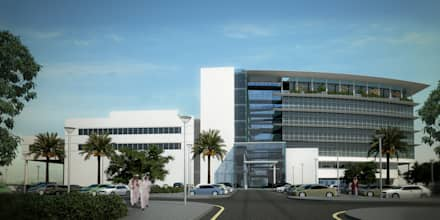 South Entrance Approach :  Hospitals by SPACES Architects Planners Engineers