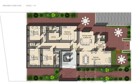 Plans:  Walls by SPACES Architects Planners Engineers