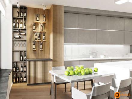 Дизайн кухни в стиле минимализм: Встроенные кухни в . Автор – Art-i-Chok