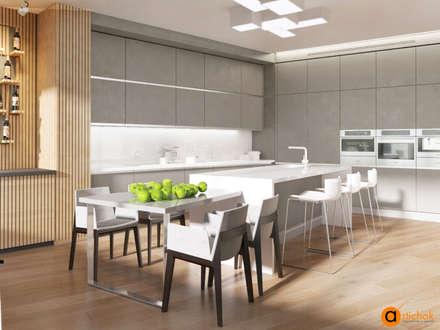 Дизайн интерьера кухни в стиле минимализм: Встроенные кухни в . Автор – Art-i-Chok