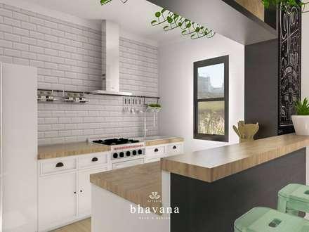 Obra El Sausalito - Diseño Integral Casa Country: Cocinas de estilo industrial por Bhavana