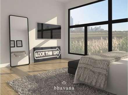 Obra El Sausalito - Diseño Integral Casa Country: Dormitorios de estilo industrial por Bhavana