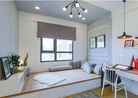 Căn Hộ 65m2 Nhỏ Đẹp Nhờ Thiết Kế Nội Thất Thông Minh: Phòng ngủ by Công ty TNHH Xây Dựng TM – DV Song Phát
