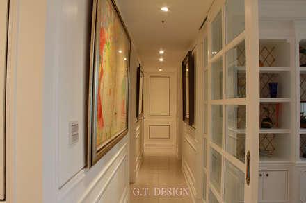 獨特雙色線板:  走廊 & 玄關 by G.T. DESIGN 大楨室內裝修有限公司