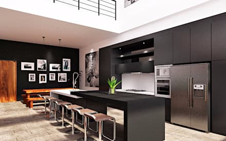 F House, Pematangsiantar City:  Dapur by Lighthouse Architect Indonesia
