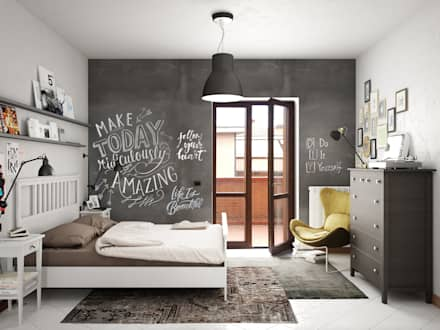 industrial Bedroom by Studio Gentile