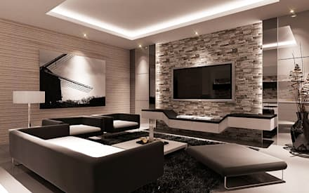 minimalistic Living room by Lighthouse Architect Indonesia
