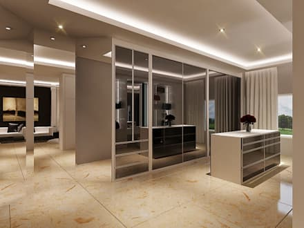 Master Room Design Concept:  Ruang Ganti by Lighthouse Architect Indonesia