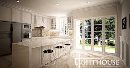 Kitchen:  Dapur by Lighthouse Architect Indonesia