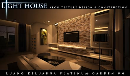 ONG, Platinum Garden. Medan City:  Ruang Keluarga by Lighthouse Architect Indonesia