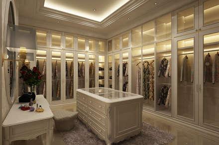 غرفة الملابس تنفيذ Lighthouse Architect Indonesia