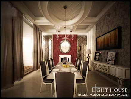 Dining Room:  Ruang Makan by Lighthouse Architect Indonesia