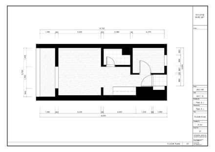부천 미리내마을 네츄럴 모던하우스: 디자인고은의  벽