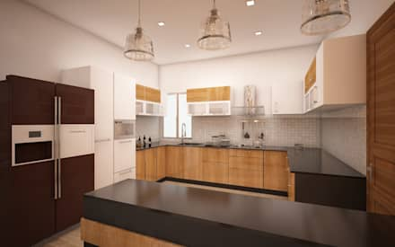 Kitchen: Modern Kitchen By Regalias India Interiors U0026 Infrastructure