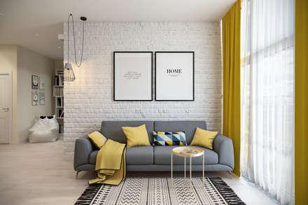 scandinavian Living room by Студия архитектуры и дизайна Дарьи Ельниковой