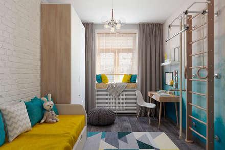 scandinavian Nursery/kid's room by Студия архитектуры и дизайна Дарьи Ельниковой