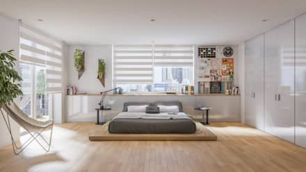 Diseño de Interior: Recámaras.: Recámaras de estilo moderno por Mexikan Curious