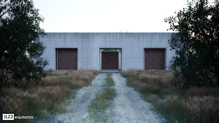 Fachada principal: Casas rurales de estilo  de JLZ2 arquitectos