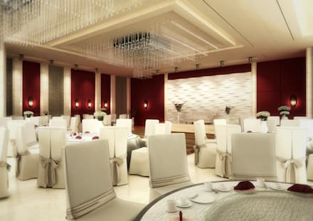 Wedding Hall:  Floors by SPACES Architects Planners Engineers