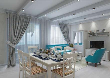 Квартира в стиле Прованс в Москве: Кухни в . Автор – Студия интерьера 'IDEAL DESIGN'