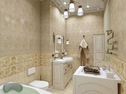 Квартира в стиле Прованс в Москве: Ванные комнаты в . Автор – Студия интерьера 'IDEAL DESIGN'