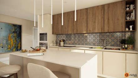 Дизайн интерьера кухни в натуральных цветах: Встроенные кухни в . Автор – Art-i-Chok