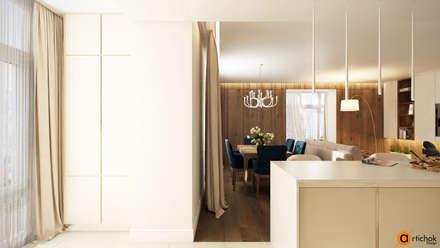 Кухня-гостиная идеи дизайна: Встроенные кухни в . Автор – Art-i-Chok