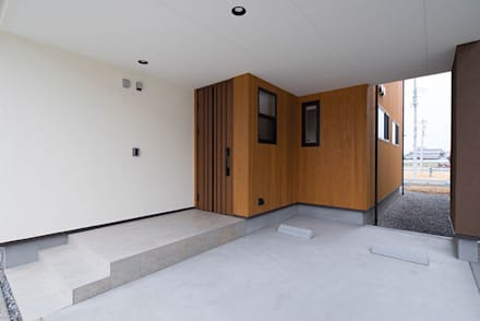 Garajes de estilo escandinavo de 株式会社アーキトラスト