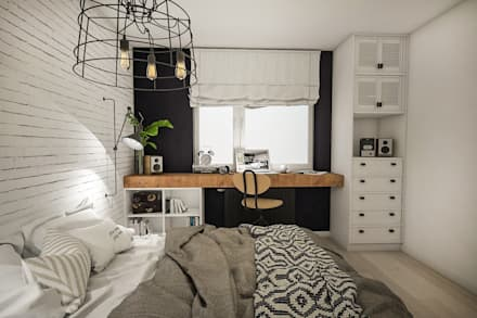 industrial Bedroom by Studio Archemia