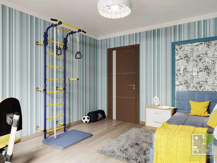 Детская комната для футболиста: Спальни для мальчиков в . Автор – Елена Марченко