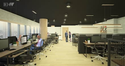 Office Area:  Office buildings by DW Interiors