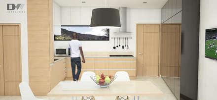 Kitchen Area: minimalistic Kitchen by DW Interiors
