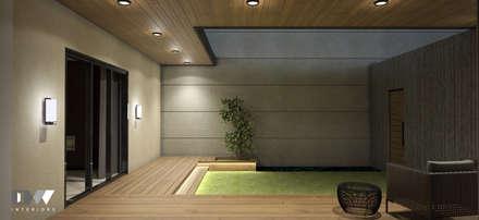 Outdoor Deck:  Patios & Decks by DW Interiors