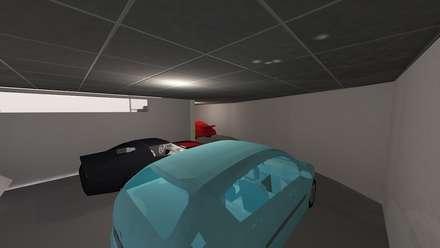 Construcción de garaje en Uceda, Guadalajara : Garajes de estilo moderno de Fengdeco