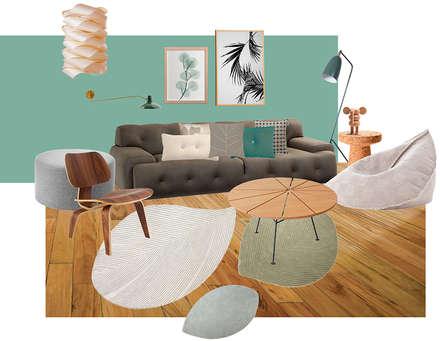 Wohnzimmereinrichtung im Privathaus: skandinavische Wohnzimmer von Interior Design Solutions By Imma Galiana