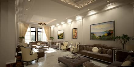 Majlis: mediterranean Living room by SPACES Architects Planners Engineers