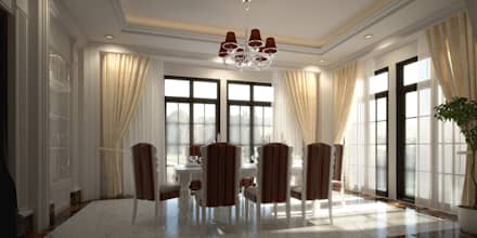 Dining Area : Mediterranean Dining Room By SPACES Architects Planners  Engineers