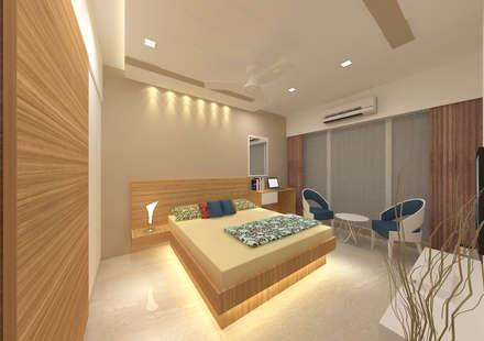 Bhatt's Residence: asian Bedroom by Midas Dezign