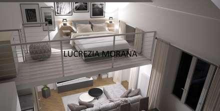 Loft in Torino: Camera da letto in stile in stile Moderno di Lucrezia Morana - ML Modellazione 3D & Rendering