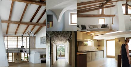 CASA SUL LAGO: Pavimento in stile  di Viu' Architettura