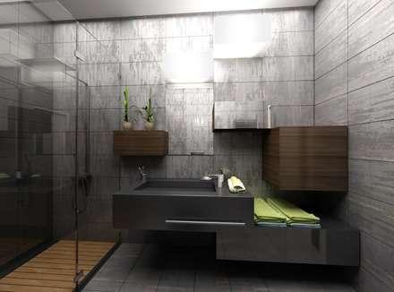 Gökhan BAYUR – VİLLA WOX: modern tarz Banyo