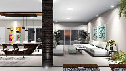 منزل عائلي صغير تنفيذ Trivisio Consultoria e Projetos em 3D