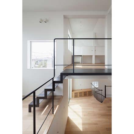 階段: 有限会社角倉剛建築設計事務所が手掛けた階段です。